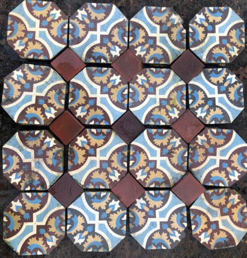 Oude mozaïek tegels