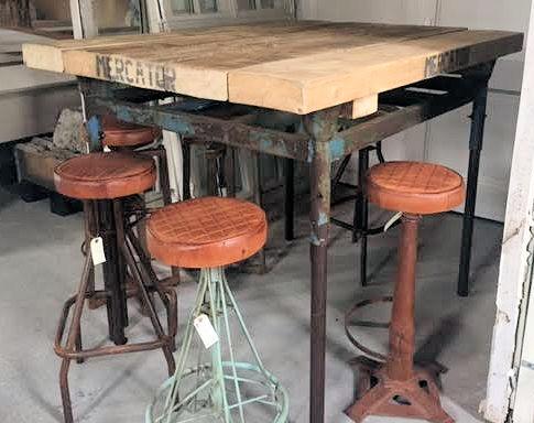 Industriële tafels en onderstellen