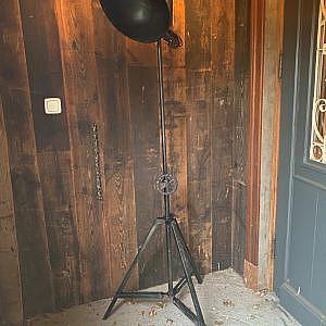 Industriële zwarte lamp 71x182