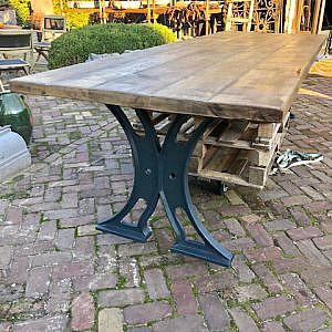 Eiken tafel 100x250